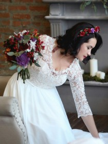 Букет невесты с брассикой