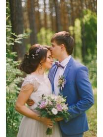 Букет невесты с сиреневыми розами